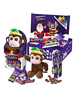 Christmas Buttons Monkey Toy Gift Box