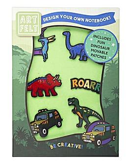 Artfelt Dinosaur A5 Notebook