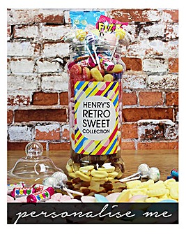Personalised Giant Victorian Retro Sweet Jar