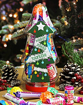 Personalised Christmas Tree Sweet Jar