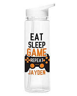Personalised Eat Sleep Game Water Bottle