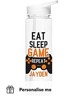 Personalised Eat Sleep Game Water Bottle
