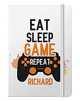 Personalised Eat Sleep Game Notebook