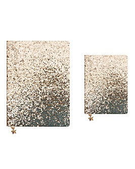 Gold Sparkle Journal and Pouch Set