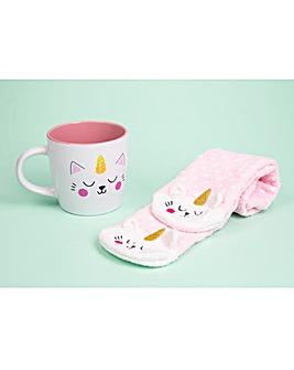 Kittycorn Mug and Socks Set