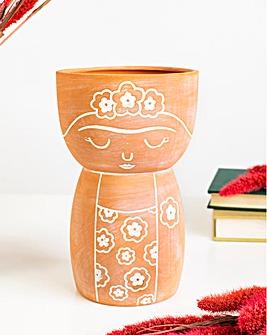 Sass & Belle Terracotta Frida Vase