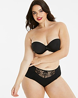 Pretty Secrets Ella Lace Black Moulded Padded Wired Multiway Bra