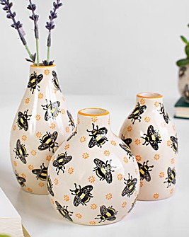 Sass & Belle Bees set of 3 Vases