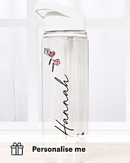 Personalised Floral Water Bottle