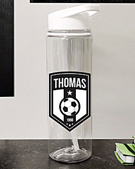 Personalised Football Badge Water Bottle