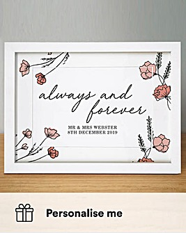 Personalised Always & Forever A4 Print