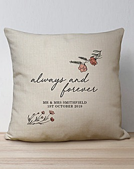 Personalised Always and Forever Cushion