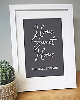 Personalised Home Sweet Home A4 Print