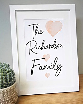 Personalised Family A4 Framed Print