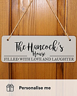 Personalised Love & Laughter Sign