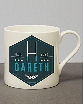 Personalised Rugby Mug