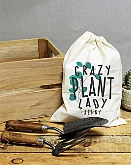 Personalised Crazy Plant Garden Tool Set