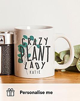 Personalised Crazy Plant Man/Lady Mug