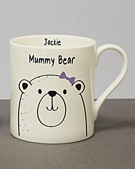 Personalised Mummy Bear Mug