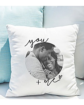 Personalised You & Me Photo Cushion