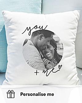 Personalised You & Me Photo Cushion