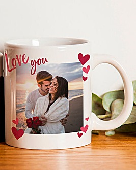 Personalised Love You Photo Upload Mug