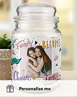 Personalised Friends Photo Candle