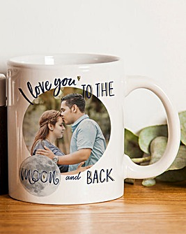 Personalised Moon & Back Photo Mug