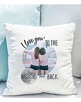 Personalised Moon & Back Photo Cushion