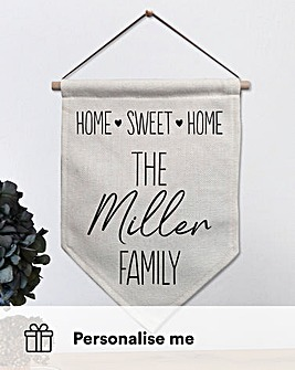 Home Sweet Home Personalised Banner