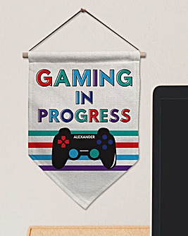 Gaming In Progress Personalised Banner