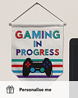 Gaming In Progress Personalised Banner