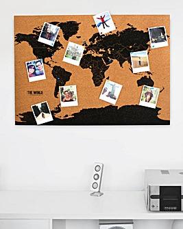 Corkboard Travel Map