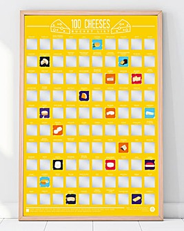 Cheeses Scratch Off Bucket List Poster