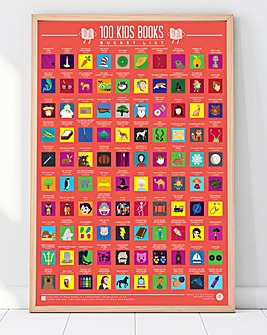 100 Kids Books Scratch Off Poster