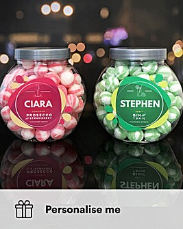 Personalised Prosecco & Gin Sweet Jars