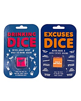 Set of 2 Dice - Drinking & Excuses