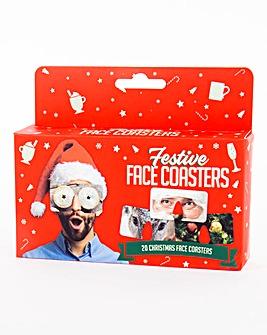 Festive Face coasters
