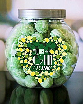 Personalised Gin To My Tonic Sweet Jar