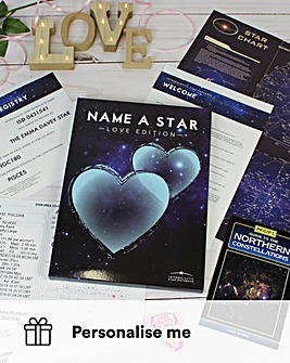 Personalised Name a Star Lovers Edition