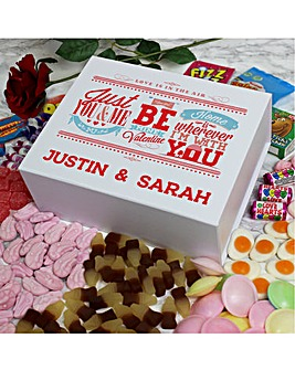 Personalised Valentine Deluxe Sweet Box