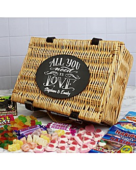 Personalised All You Need Is Love Hamper