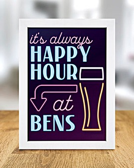 Personalised Happy Hour Print