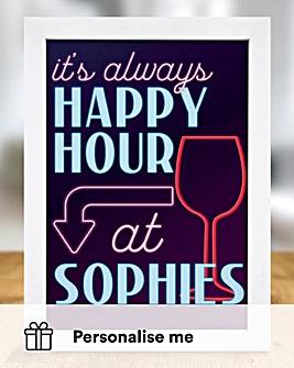 Personalised Happy Hour Print