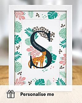 Leopard Initial Print