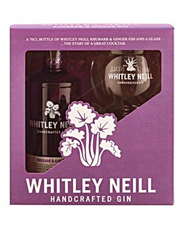 Whitley Neill Rhubarb & Ginger Set 70cl