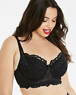 Lily Padded Black Midi Wired Bra
