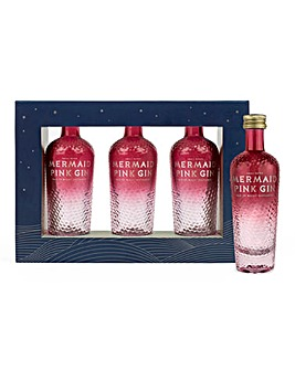 Isle of Wight Distillery Mermaid Pink Gin Miniature Set