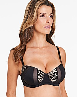 Animal Mesh Paddded Balcony Bra