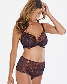 Joanna Hope Navy/Copper 2 Tone Lace Bra